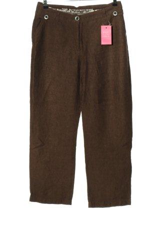 Your Sixth Sense Lniane spodnie brązowy W stylu casual