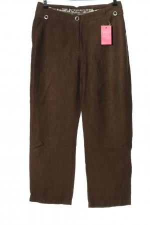Your Sixth Sense Linen Pants brown casual look