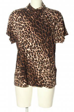 Your Sixth Sense Turtleneck Shirt leopard pattern casual look