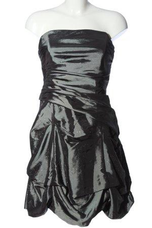 Your Sixth Sense schulterfreies Kleid silberfarben Glanz-Optik
