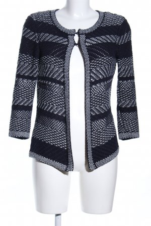 Your Sixth Sense Strickjacke schwarz-weiß Allover-Druck Business-Look