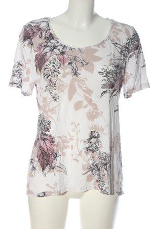 Your Sixth Sense Camiseta blanco-nude estampado floral look casual