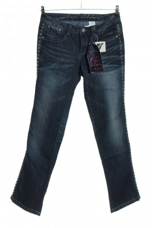 Youth against lables Jeans svasati blu stile casual