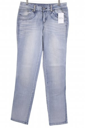 Youth against lables Straight-Leg Jeans hellblau Casual-Look