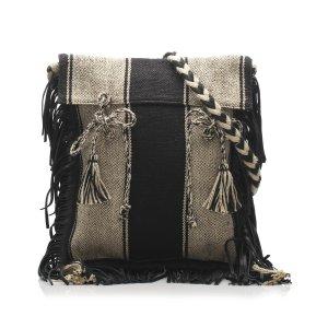 YSL Anita Canvas Shoulder Bag
