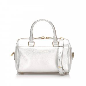 YSL Baby Classic Metallic Leather Duffle Bag