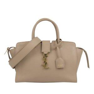 Yves Saint Laurent Satchel beige leather