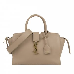 YSL Baby Downtown Cabas Leather Satchel
