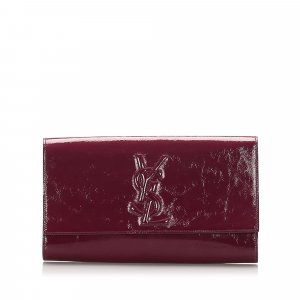 Yves Saint Laurent Bolso de mano rosa Imitación de cuero