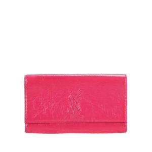 Yves Saint Laurent Cartera rosa Cuero