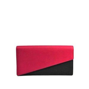 YSL Bi-color Leather Clutch