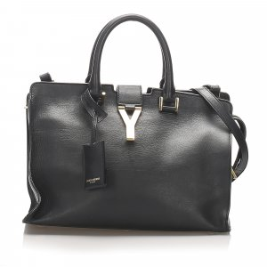 YSL Cabas Chyc Leather Satchel