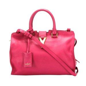 Yves Saint Laurent Mochila de colegio rosa Cuero
