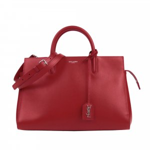 YSL Cabas Rive Gauche Leather Satchel