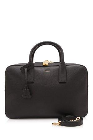 Yves Saint Laurent Serviette noir cuir