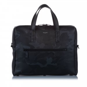 YSL Camouflage Leather Business Bag
