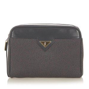 YSL Canvas Clutch Bag