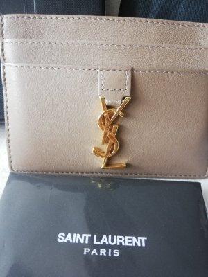 Yves Saint Laurent Custodie portacarte beige