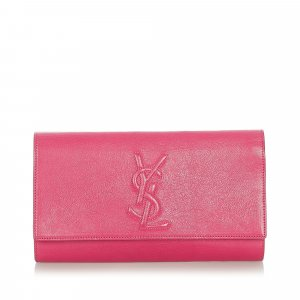 YSL Cassandre Leather Clutch