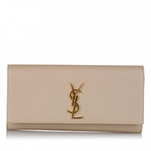 Yves Saint Laurent Bolso de mano blanco Cuero