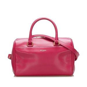 Yves Saint Laurent Sacoche rouge cuir