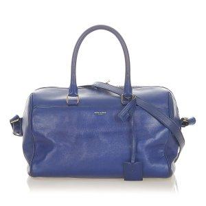 Yves Saint Laurent Sacoche bleu cuir