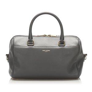 Yves Saint Laurent Sacoche noir cuir
