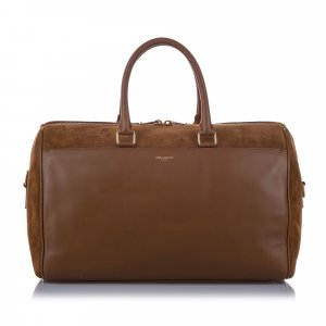 YSL Classic Duffle 12 Leather Satchel