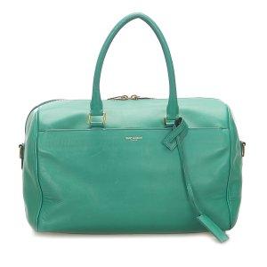 Yves Saint Laurent Sacoche vert cuir