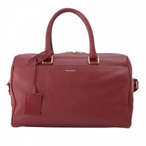 Yves Saint Laurent Satchel red leather