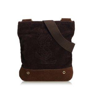 YSL Corduroy Crossbody Bag