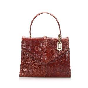 YSL Croc Leather Handbag
