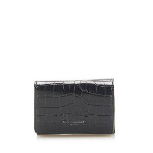 YSL Crocodile Embossed Compact Wallet