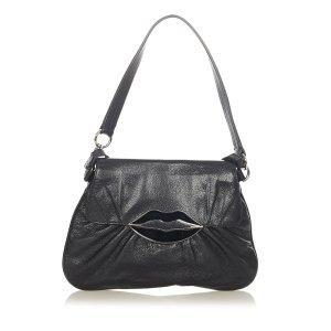 YSL Dali Lips Leather Crossbody Bag