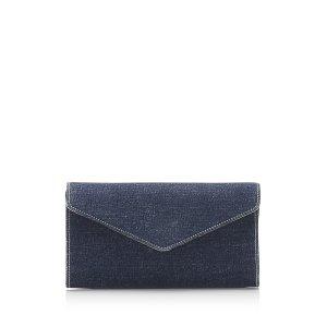 YSL Denim Clutch Bag