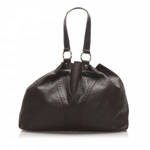 YSL Double Sac Y Leather Tote Bag