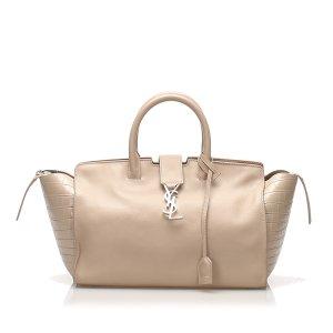 Yves Saint Laurent Sacoche beige cuir