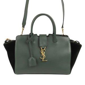 Yves Saint Laurent Satchel green leather