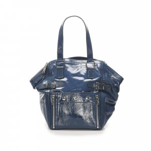 YSL Downtown Patent Leather Tote Bag