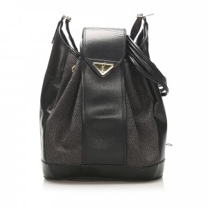 YSL Drawstring Canvas Bucket Bag