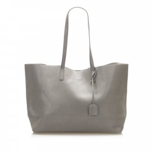 Yves Saint Laurent Tote green leather