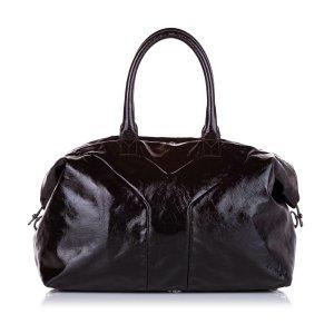 Yves Saint Laurent Torebka typu tote czarny Imitacja skóra