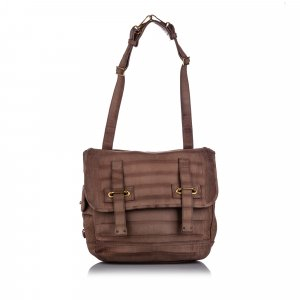 YSL Embossed Leather Besace Flap Bag