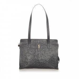 YSL Embossed Leather Tote Bag