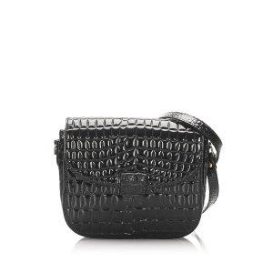 YSL Embossed Patent Leather Crossbody Bag