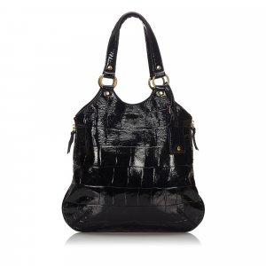 YSL Embossed Patent Leather Tribute Bag