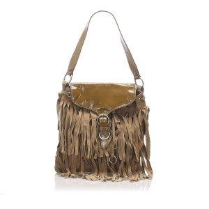 YSL Fringe Suede Leather Shoulder Bag