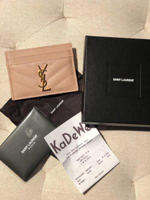 Saint Laurent Porte-cartes or rose
