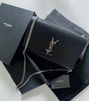 YSL Kate Bag (mittelgroß) black/silver