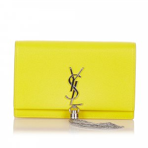 YSL Kate Leather Wallet on Chain